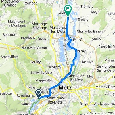 Route van 106 La Saussaie, Moulins-lès-Metz