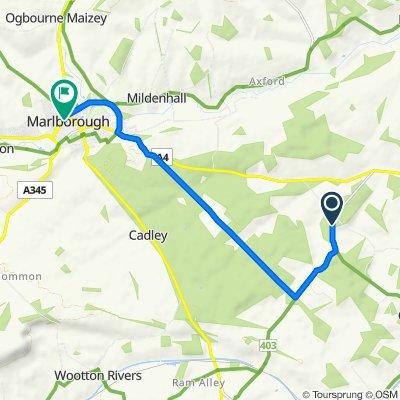 Route to Oxford Street, Marlborough