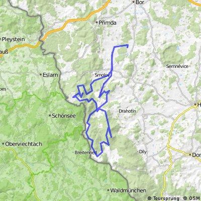 MTB - Český les - Sycherák - hrad Starý Herštejn