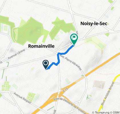 De 87 Rue de la République, Romainville à 43 Rue de Romainville, Noisy-le-Sec