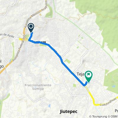 De Calle Jacarandas 103 103, Cuernavaca a Calle de los Gallos 11–19, Jiutepec