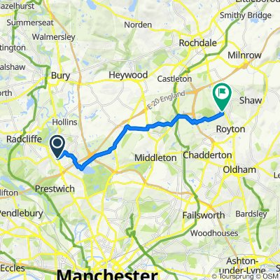 162A Bury New Road, Manchester to 2 Victoria Way, Oldham