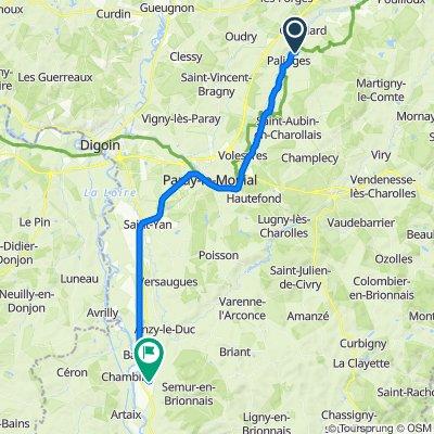 De D128, Palinges à 50 Rue du Général de Gaulle, Marcigny