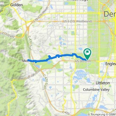 3110 S Sheridan Blvd, Denver to 3110 S Sheridan Blvd, Denver