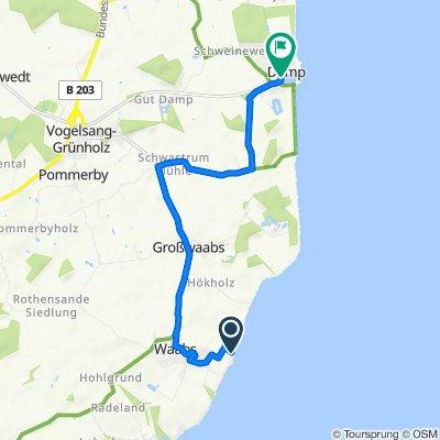 Route nach Seeuferweg 8A, Damp