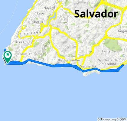 De Rua Afonso Celso, 2–30, Salvador a Rua Almirante Marques de Leão, 9, Salvador