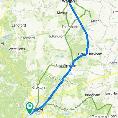80 Thetford Road, Thetford do 71 St Martin's Way, Thetford