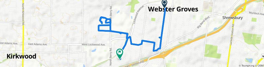 110 W Lockwood Ave, Webster Groves to 711 Crofton Ave, Webster Groves