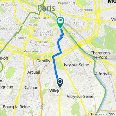 De 20 Rue Saint-Roch, Villejuif à 63 Avenue Pierre Mendès France, Paris