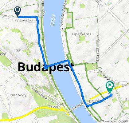 Kapás utca 6–10., Budapest to Reáltanoda utca 8., Budapest V. kerület