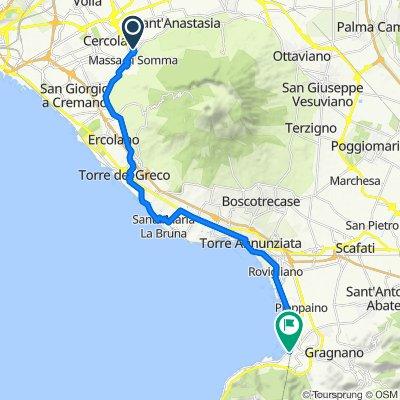 Da Via Vincenzo Bellini 30, Pollena-Trocchia a Piazza Principe Umberto 1–19, Castellammare di Stabia