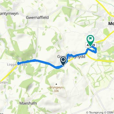 Ruthin Road, Gwernymynydd to Llys Ambrose 34