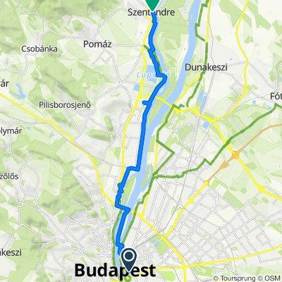 Biking to Szentendre