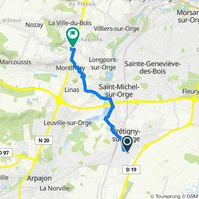 De 11 Square des Mouettes, Brétigny-sur-Orge à 14 Chemin de la Ville du Bois, Montlhéry