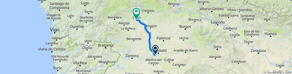 Etapa 2 Camino Santiago: Simancas-Medina de Rioseco-El Burgo Ranero-León
