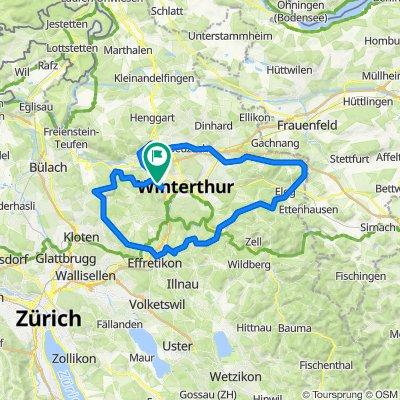 70 km Embrach-Kyburg-Egg-Winti
