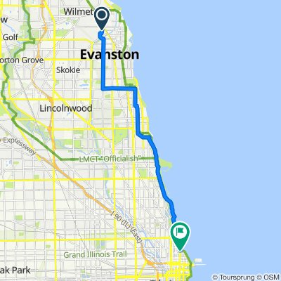 2420 Brown Ave, Evanston to N Lake Shore Dr, Chicago