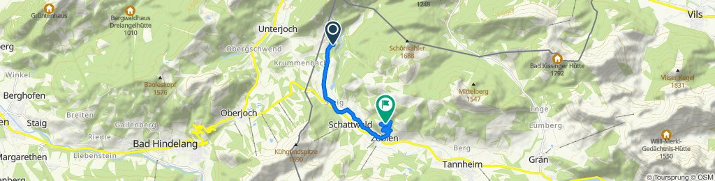 Rehbach 1, Schattwald nach Zöblen 41, Zöblen