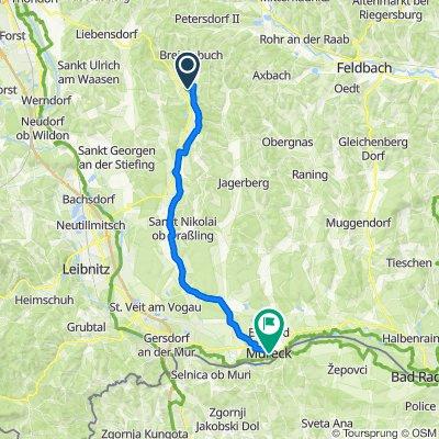 Kirchbach in der Steiermark 224 nach Mureck Busbahnhof