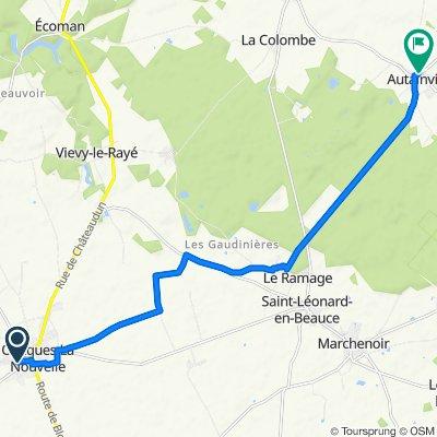 De Rue du Gros Caillou 7, Oucques à Rue de la Mairie 8, Autainville