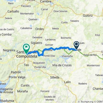 Etapa 5 Camino Santiago: Melide-Arzúa-Monte do Gozo-Santiago de Compostela