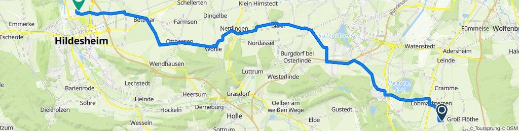 Flachstöckheim nach Flugplatz Hildesheim