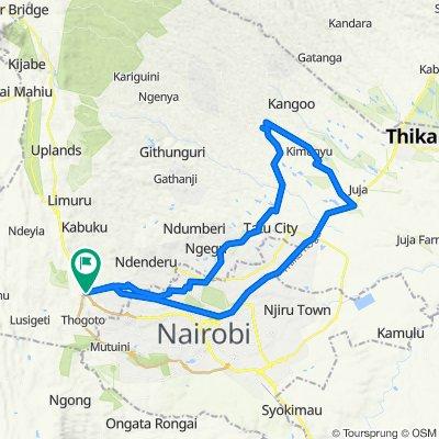 Foot Path, Gitaru to Gitaru - Nairobi Highway Road