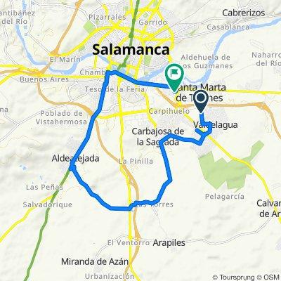 De Calle de Orión, 32, Santa Marta de Tormes a Avenida de Asturias, 30, Santa Marta de Tormes