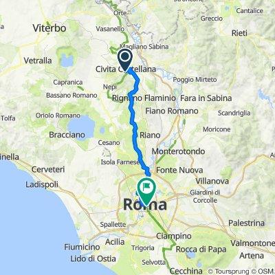 Via Santissimi Patroni Giovanni e Marciano 4–10, Civita Castellana nach Piazza del Colosseo, Rom