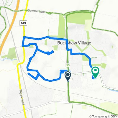 Buckshaw Hall, Knight Ave, Chorley to Aldi Stores Ltd, Lancaster Way, Chorley