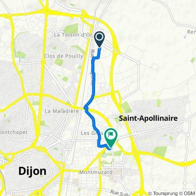 De 14 Impasse Boirac, Dijon à 2bis Rue du Maréchal Leclerc, Dijon