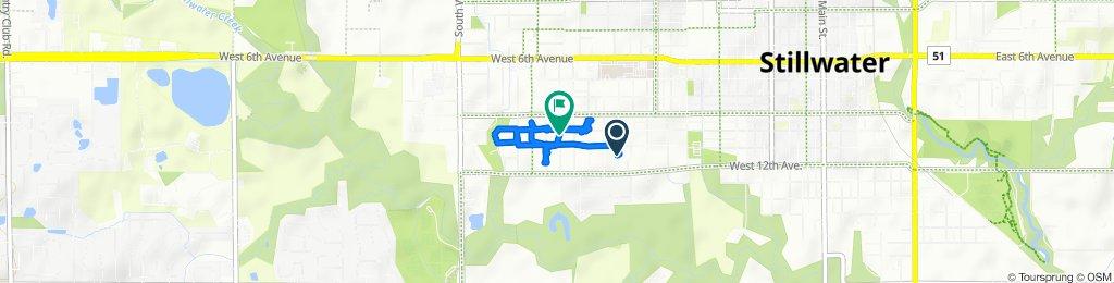 1110 S Stanley St, Stillwater to 1015 S Orchard St, Stillwater
