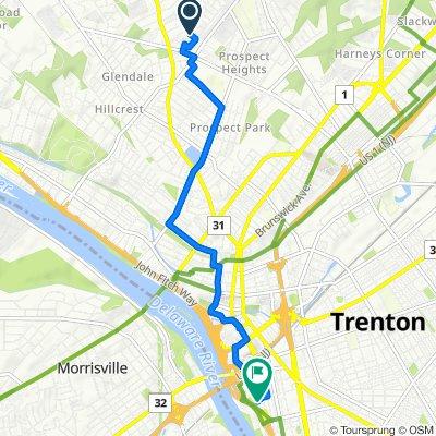 44 Pennwood Dr, Ewing to 512 Union St, Trenton