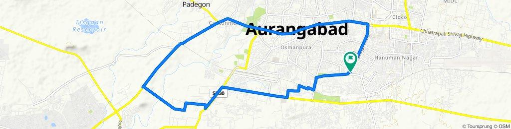Garkheda Road, Aurangabad to Garkheda Road, Aurangabad