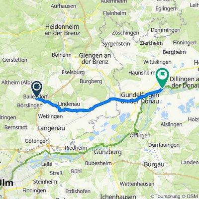 Buchenweg 2, Ballendorf nach Herzog-Georg-Straße 68, Lauingen