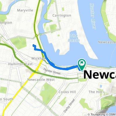 4 Merewether Street, Newcastle to 430 Hunter Street, Newcastle