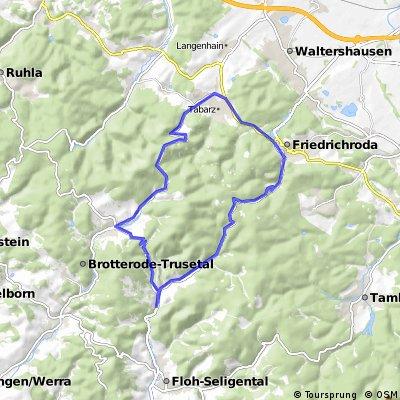 Inselsberg mit 2 maliger Rennsteigquerung