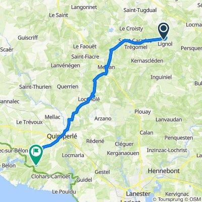 De Le Cosquer, Lignol a Allée des Chênes 6, Moëlan-sur-Mer