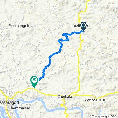 Badiadka – Mulleria Road, Badiyadka to AKG Mandiram