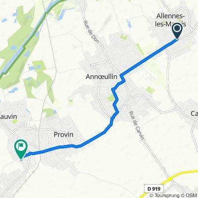 De 1–3 Rue de Sonneville, Allennes-les-Marais à 9 Chemin d'Épinoy, Bauvin