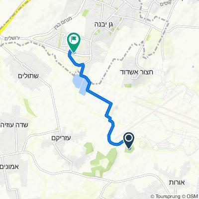 Be'er Tuvya to Shahaf Street 3, Gan Yavne