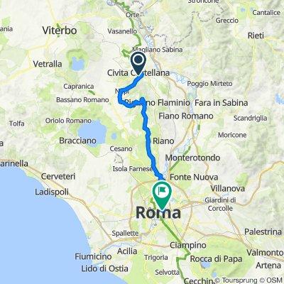 Piazza del Duomo 3, Civita Castellana nach Via Marsala 25, Rom