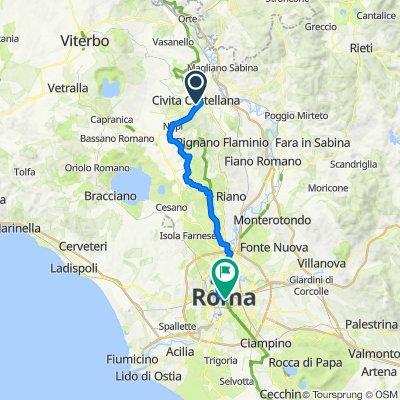 Via del Governo Vecchio 3, Civita Castellana nach Piazza del Colosseo, Rom