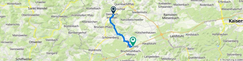 Hauptstraße 10, Steinbach am Glan nach Am Römerhof 6, Bruchmühlbach-Miesau