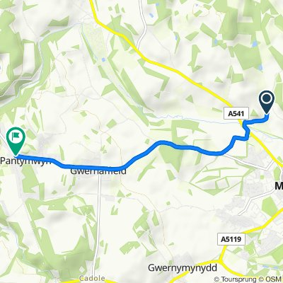 Blackbrook Road, Mold to Cefn Bychan Road, Mold