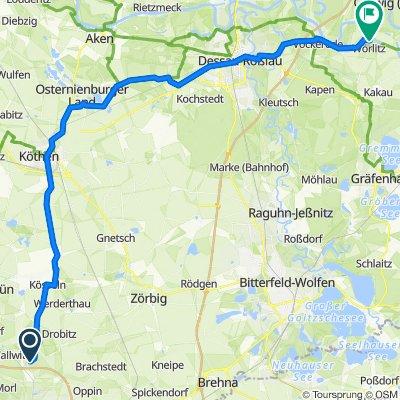 Am Hang 1, Petersberg nach Unnamed Road, Oranienbaum-Wörlitz