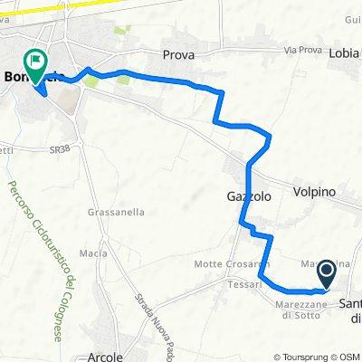 Via Braggio 336, Zimella to Via della Libertà 26, San Bonifacio