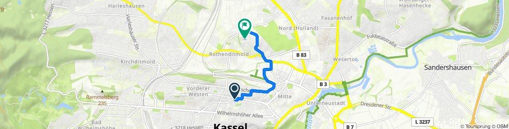 K50 1, Kassel nach Marburger Straße 85, Kassel