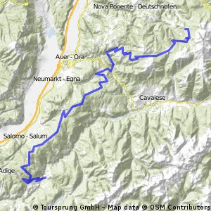 Von Obereggen an den Heiligensee