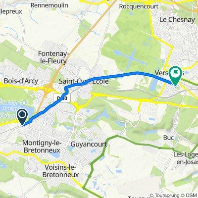De Avenue des Prés, Montigny-le-Bretonneux à 10 Rue de Limoges, Versailles